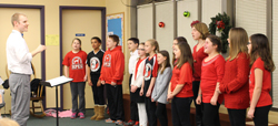 Red Pump Elementary School Chorus performs at the Fallston Library.